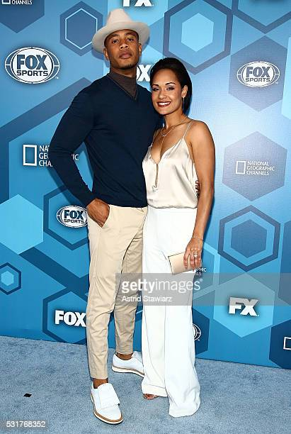 Actors Trai Byers and Grace Gealey attend FOX 2016 Upfront Arrivals at Wollman Rink, Central Park on May 16, 2016 in New York City.