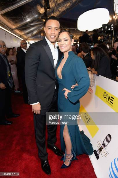 Actors Trai Byers and Grace Gealey attend the 48th NAACP Image Awards at Pasadena Civic Auditorium on February 11, 2017 in Pasadena, California.