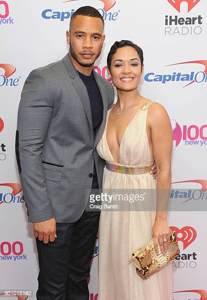 Actors Trai Byers and Grace Gealey attend Z100's Jingle Ball 2015 at Madison Square Garden on December 11 2015 in New York City
