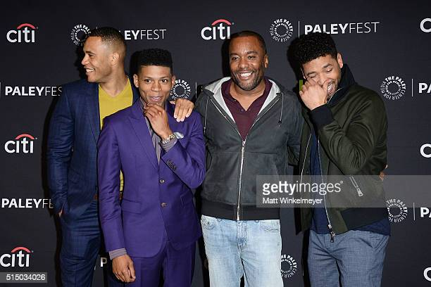 Actors Trai Byers Bryshere 'Yazz' Gray cocreator/Executive Producer Lee Daniels and actor Jussie Smollett arrive at The Paley Center For Media's 33rd...