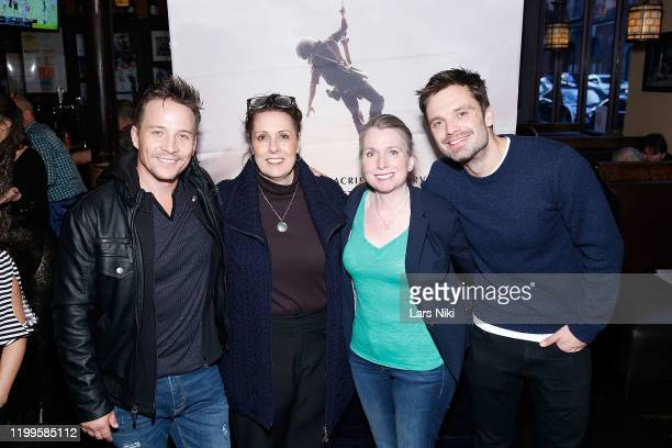 """Actors Travis Aaron Wade and Sebastian Stan attend the after party for the special screening of """"The Last Full Measure"""" for active and retired..."""