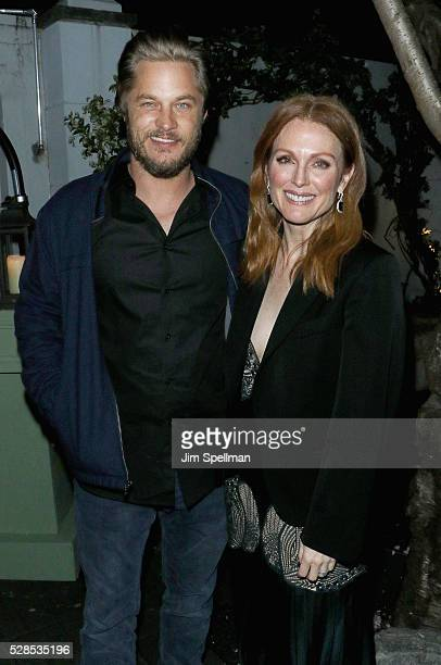 Actors Travis Fimmel and Julianne Moore attend the after party for the screening of Sony Pictures Classics' 'Maggie's Plan' hosted by Montblanc and...