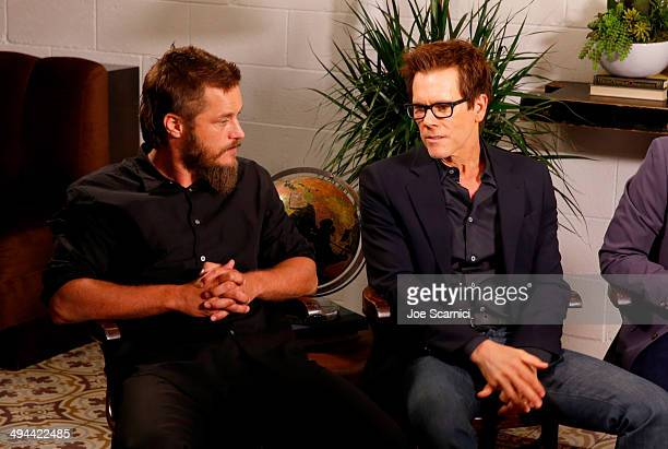 Actors Travis Fimmel and Kevin Bacon attend the Variety Studio powered by Samsung Galaxy at Palihouse on May 29 2014 in West Hollywood California