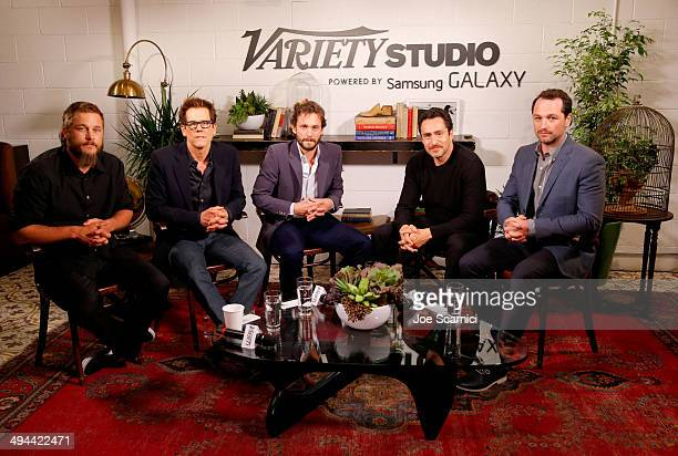 Actors Travis Fimmel Kevin Bacon Hugh Dancy Demian Bichir and Matthew Rhys attend the Variety Studio powered by Samsung Galaxy at Palihouse on May 29...
