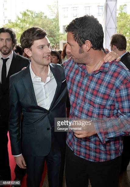 "Actors Travis Tope and Adam Sandler attend the ""Men, Women & Children"" premiere during the 2014 Toronto International Film Festival at Ryerson..."
