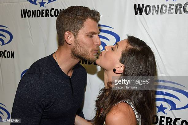 Actors Travis Van Winkle and Marissa Neitling attend 'The Last Ship' panel TNT at Wondercon 2016 at Los Angeles Convention Center on March 26 2016 in...
