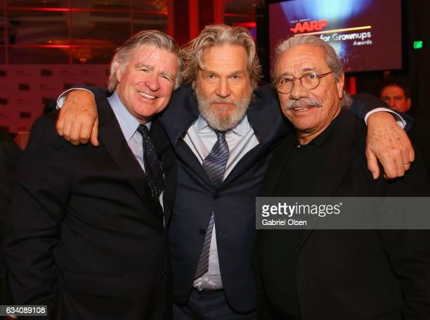 Actors Treat Williams Jeff Bridges and Edward James Olmos attend the 16th Annual AARP The Magazine's Movies For Grownups Awards at the Beverly...