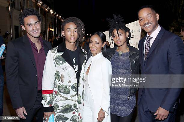 Actors Trey Smith and Jaden Smith and Jada Pinkett Smith singer Willow Smith and actor Will Smith attend the Environmental Media Association 26th...
