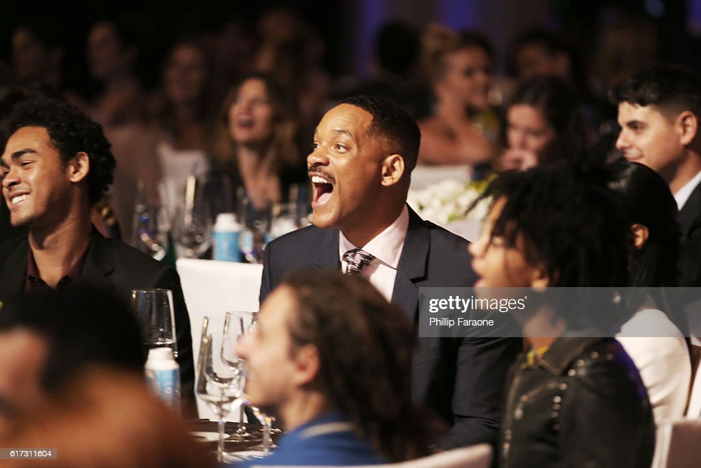 Actors Trey Smith (L) and Will Smith attend the Environmental Media Association 26th Annual EMA Awards Presented By Toyota, Lexus And Calvert at Warner Bros. Studios on October 22, 2016 in Burbank, California.