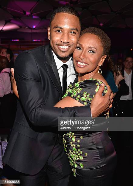 Actors Trey Songz and Jenifer Lewis attend the after party for the premiere of Fox Searchlight Pictures' Baggage Claim at the Conga Room on September...