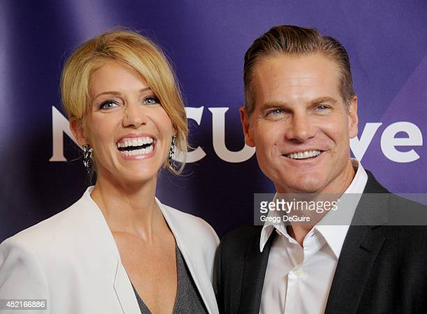 Actors Tricia Helfer and Brian Van Holt arrive at the 2014 Television Critics Association Summer Press Tour - NBCUniversal - Day 2 at The Beverly...