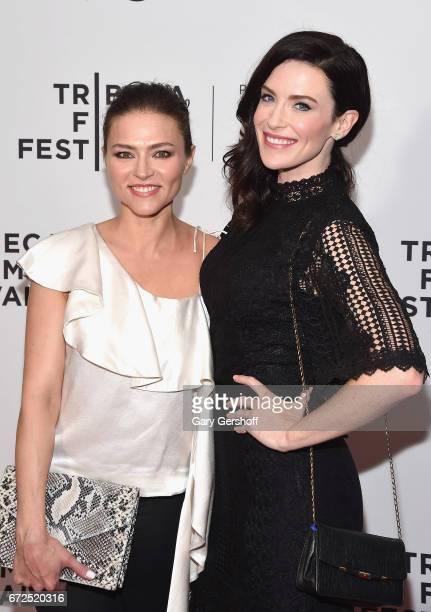 Actors Trieste Kelly Dunn and Bridget Regan attend the 'Devil's Gate' screening during the 2017 Tribeca Film Festival at Cinepolis Chelsea on April...