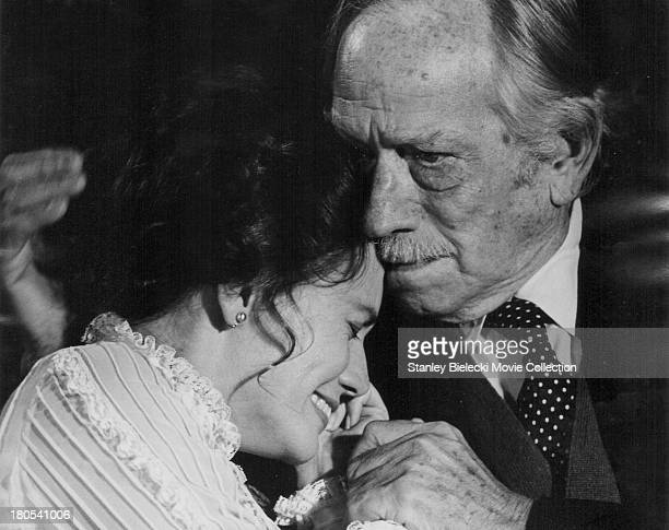 Actors Trish Van Devere and Melvyn Douglas in a scene from the movie 'One Is a Lonely Number' 1972