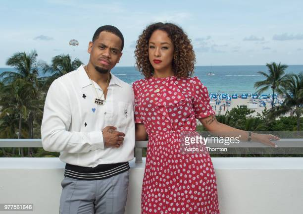 Actors Tristan Mack Wilds and Chaley Rose pose for a portrait during the 22nd Annual American Black Film Festival at the Loews Miami Beach Hotel on...