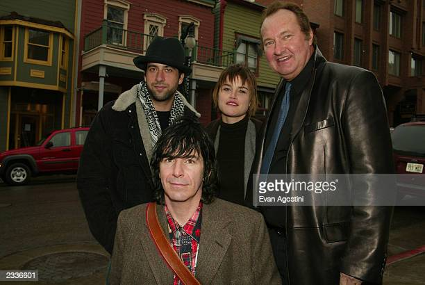 Actors Troy Garity Alison Folland and Randy Quaid with director Allan Mindel at the 'Milwaukee Minnesota' cast photo sessionduring the Sundance Film...