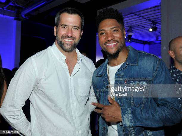 Actors Troy Garity and London Brown attend HBO's Ballers Season 3 PopUp Experience on July 20 2017 in Los Angeles California