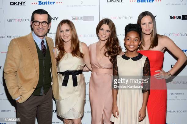 Actors Ty Burrell, Alicia Silverstone, Ashley Greene, Yara Shahidi and Jennifer Garner attend The Cinema Society with DKNY, Forevermark &...