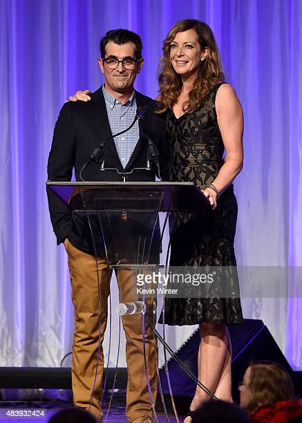Actors Ty Burrell and Allison Janney accept grant on behalf of Toronto Film Festival LA Conservatory Museum of the Moving Image and The Library...
