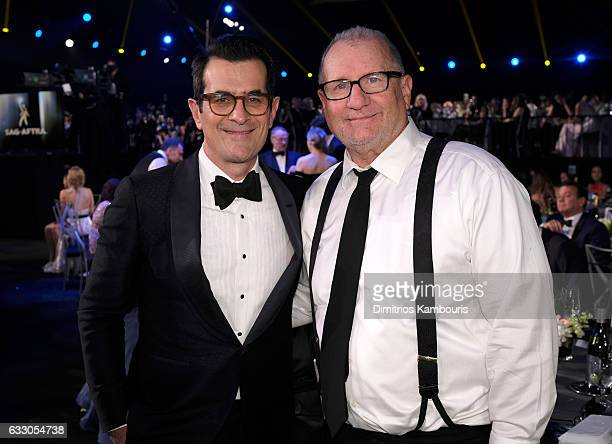 Actors Ty Burrell and Ed O'Neill pose during The 23rd Annual Screen Actors Guild Awards at The Shrine Auditorium on January 29 2017 in Los Angeles...