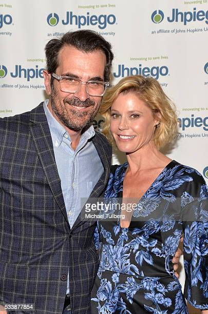 Actors Ty Burrell and Julie Bowen attend Jhpiego's 'Laughter Is The Best Medicine' event at the Beverly Wilshire Four Seasons Hotel on May 23 2016 in...