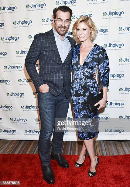 Actors Ty Burrell and Julie Bowen attend Jhpiego's 'Laughter Is The Best Medicine' Arrivals at the Beverly Wilshire Four Seasons Hotel on May 23 2016...