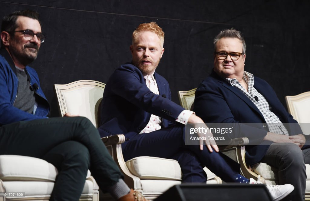 Actors Ty Burrell, Jesse Tyler Ferguson and Eric Stonestreet attend the FYC Event for ABC's 'Modern Family' at Avalon on April 16, 2018 in Hollywood, California.