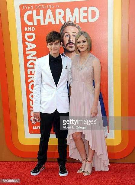 Actors Ty Simpkins and Ryan Simpkins arrive for the Premiere Of Warner Bros Pictures' 'The Nice Guys' held at TCL Chinese Theatre on May 10 2016 in...