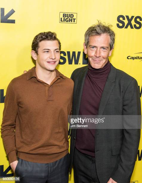 Actors Tye Sheridan and Ben Mendelsohn walk the red carpet at the world premiere of Ready Player One during the SXSW Film Festival on March 11 2018...