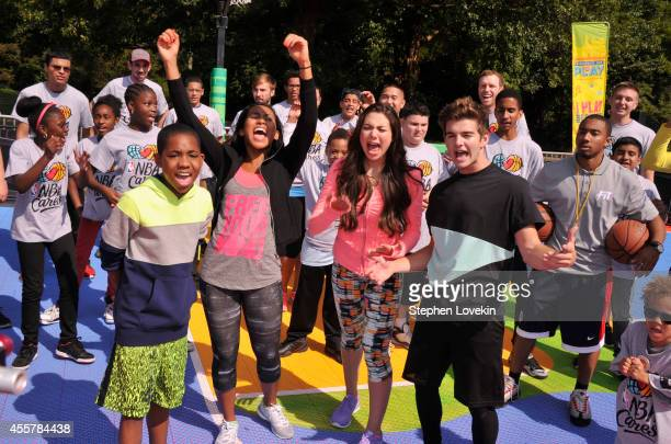 Actors Tylen Jacob Williams Sydney Park Kira Kosarin and Jack Griffo participate in activities during Nickelodeon's 11th Annual Worldwide Day of Play...