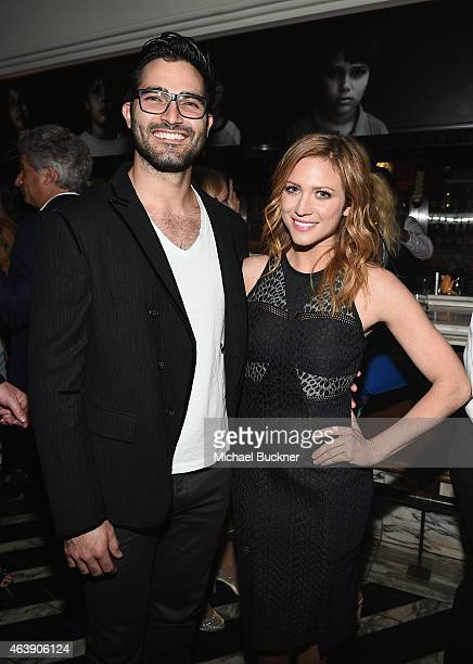 "Actors Tyler Hoechlin and Brittany Snow attend VANITY FAIR and Chrysler Celebration of Richard Linklater and the cast of ""Boyhood"" at Cecconi's on..."