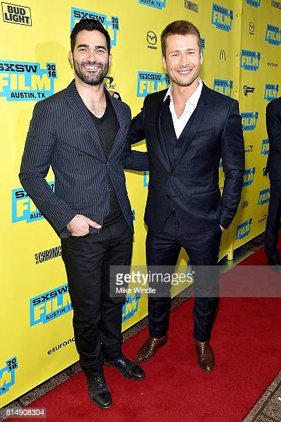 Actors Tyler Hoechlin and Glen Powell attend the screening of 'Everybody Wants Some' during the 2016 SXSW Music Film Interactive Festival at...