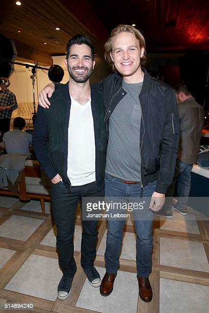Actors Tyler Hoechlin and Wyatt Russell attend The Samsung Studio at SXSW 2016 on March 11 2016 in Austin Texas