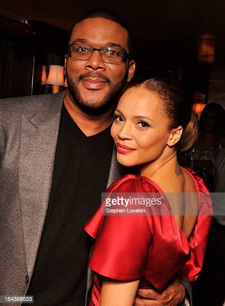 Actors Tyler Perry and Carmen Ejogo attend The Cinema Society Grey Goose Host A Screening Of Alex Cross After Party at The Beatrice Inn on October 18...