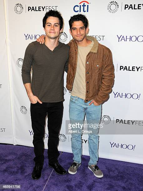 Actors Tyler Posey ad Dylan O'Brien arrive for The Paley Center For Media's 32nd Annual PALEYFEST LA Teen Wolf held at Dolby Theatre on March 11 2015...