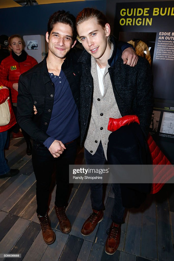 Actors Tyler Posey (L) and Austin Butler attend the Eddie Bauer Adventure House during the 2016 Sundance Film Festival at Village at The Lift on January 24, 2016 in Park City, Utah.
