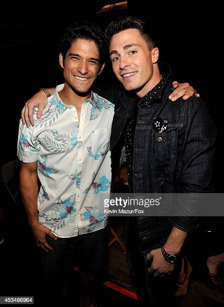 Actors Tyler Posey and Colton Haynes attends FOX's 2014 Teen Choice Awards at The Shrine Auditorium on August 10 2014 in Los Angeles California