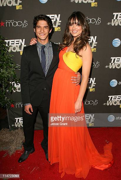 Actors Tyler Posey and Crystal Reed arrive at the series premiere of MTV's 'Teen Wolf' at The Roosevelt Hotel on May 25, 2011 in Los Angeles,...