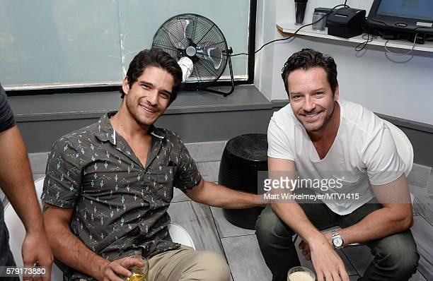 Actors Tyler Posey and Ian Bohen attend the MTV Fandom Awards San Diego ATT PostParty featuring Teen Wolf Cast at PETCO Park on July 22 2016 in San...