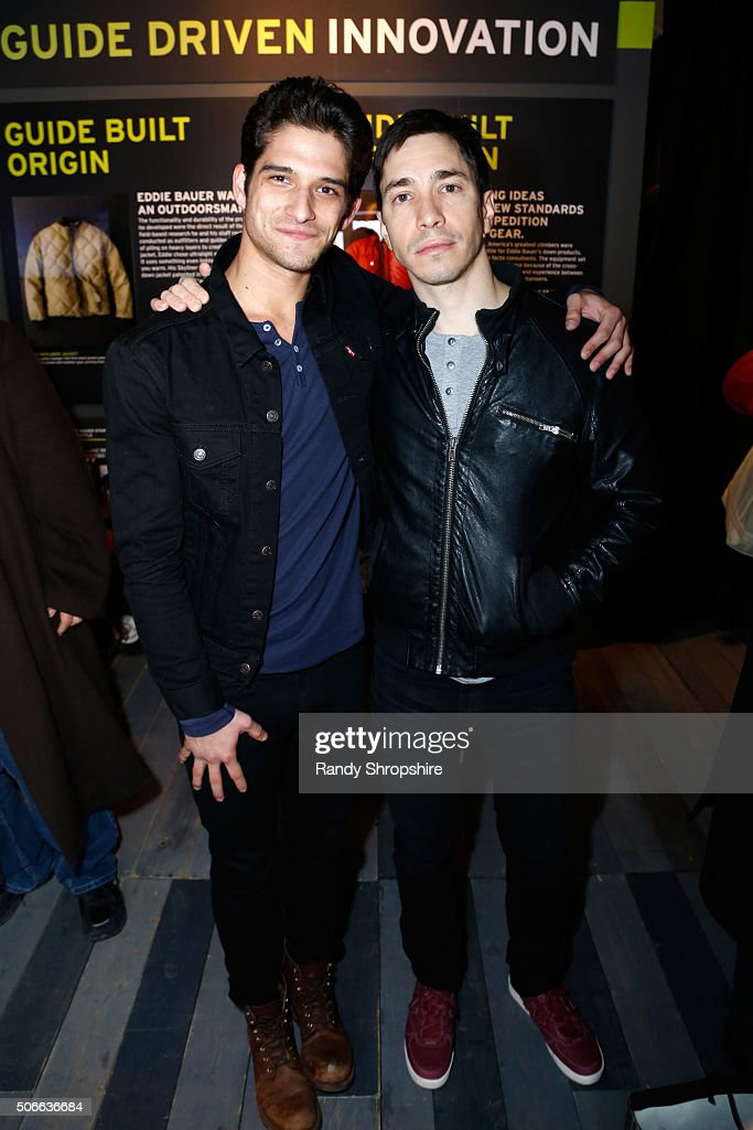 Actors Tyler Posey (L) and Justin Long attend the Eddie Bauer Adventure House during the 2016 Sundance Film Festival at Village at The Lift on January 24, 2016 in Park City, Utah.
