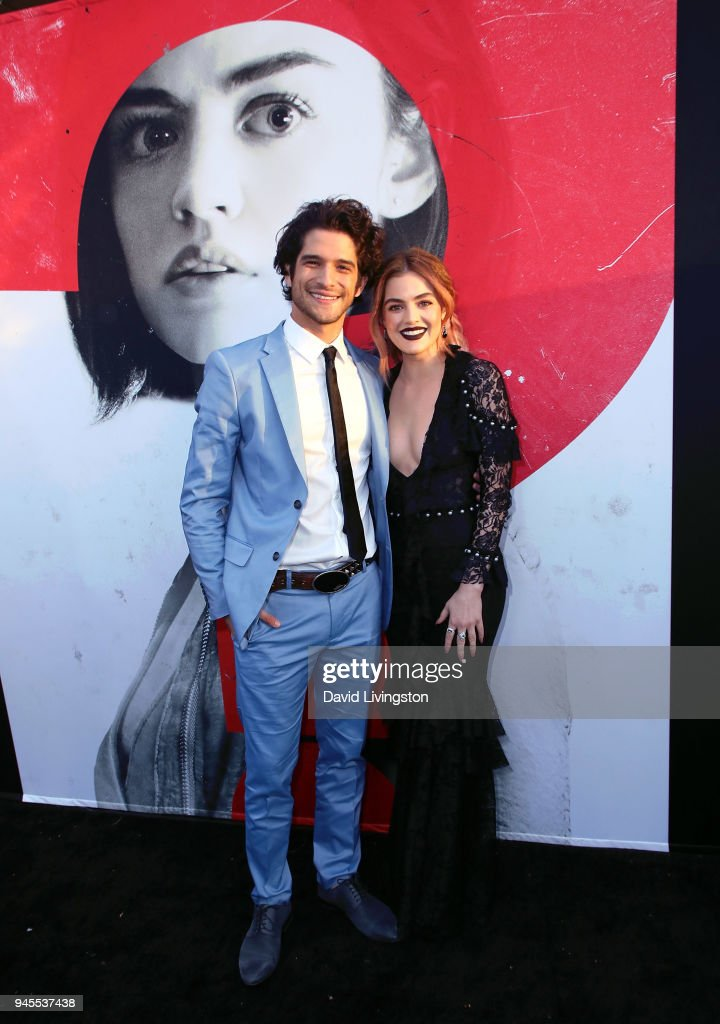 Actors Tyler Posey (L) and Lucy Hale attend the premiere of Universal Pictures' 'Blumhouse's Truth or Dare' at ArcLight Cinemas Cinerama Dome on April 12, 2018 in Hollywood, California.