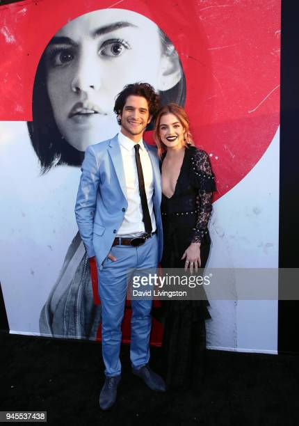 Actors Tyler Posey and Lucy Hale attend the premiere of Universal Pictures' 'Blumhouse's Truth or Dare' at ArcLight Cinemas Cinerama Dome on April 12...