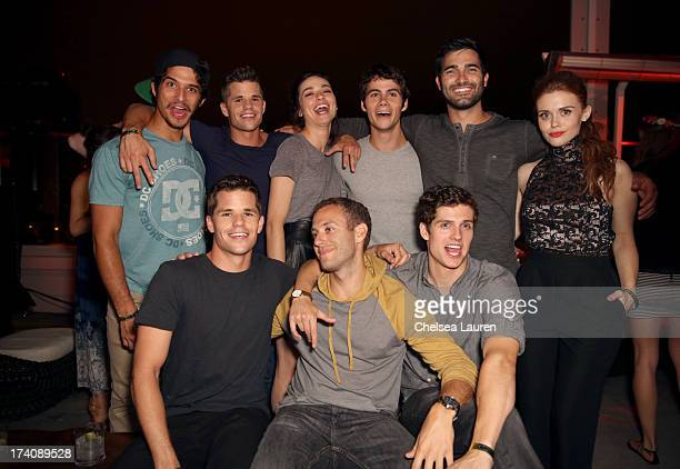 Actors Tyler Posey Charlie Carver Crystal Reed Dylan O'Brien Tyler Hoechlin Holland Roden Max Carver guest and Daniel Sharman attend the Maxim FX and...
