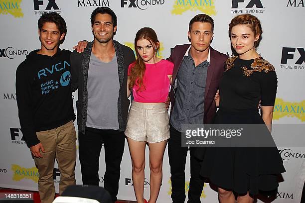 Actors Tyler Posey Tyler Hoechlin Holland Roden Colton Haynes and Crystal Reed arrive at the ComicCon International 2012 FX Maxim And Fox Home...