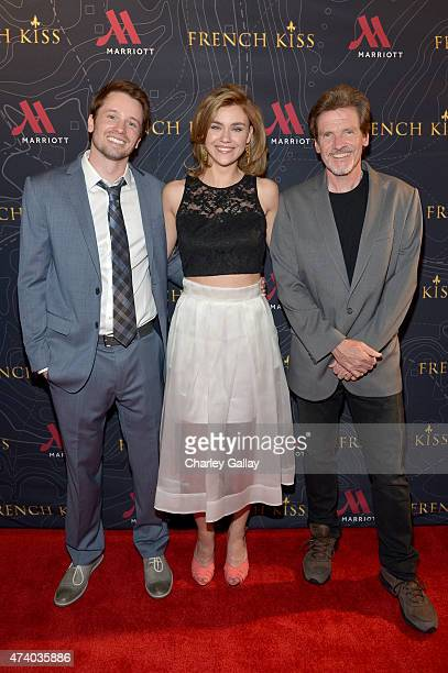 Actors Tyler Ritter and Margot Luciarte and writer/director John Gray attend The Marriott Content Studio's French Kiss film premiere at the Marina...
