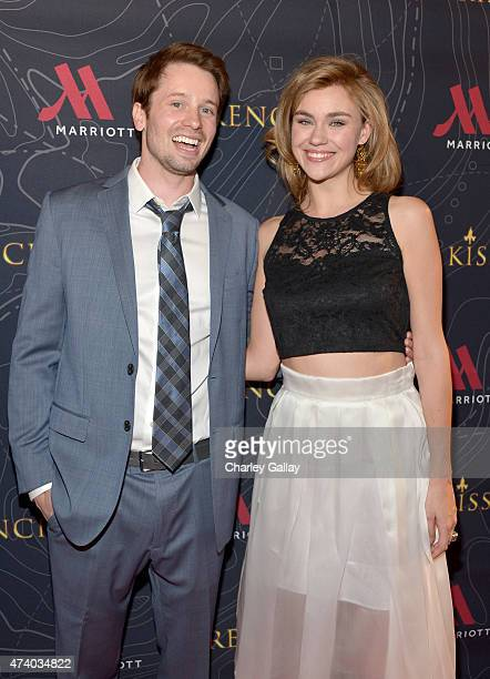 Actors Tyler Ritter and Margot Luciarte attend The Marriott Content Studio's French Kiss film premiere at the Marina del Rey Marriott on May 19 2015...