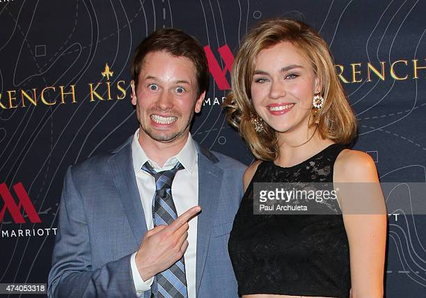 Actors Tyler Ritter and Margot Luciarte attend the premiere of French Kiss at The Marina del Rey Marriott on May 19 2015 in Marina del Rey California