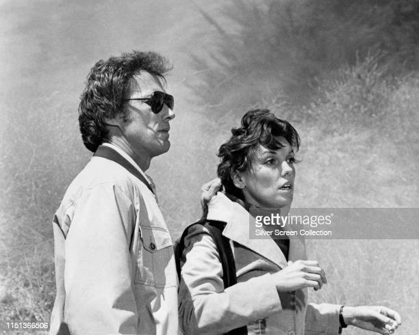 Actors Tyne Daly as Kate Moore and Clint Eastwood as 'Dirty' Harry Callahan in the film 'The Enforcer' 1976
