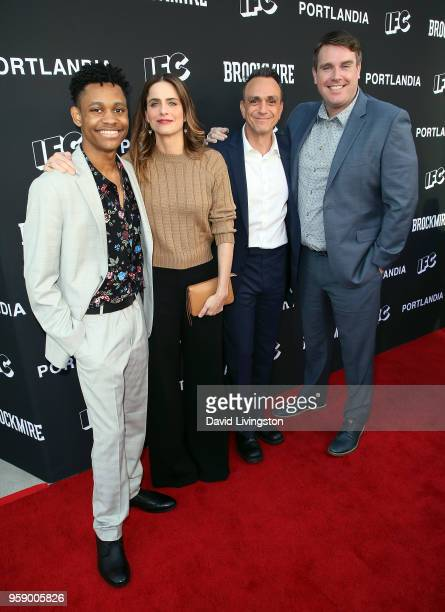 Actors Tyrel Jackson Williams Amanda Peet and Hank Azaria and executive producer Joel ChurchCooper attend the 'Brockmire' and 'Portlandia' EMMY FYC...
