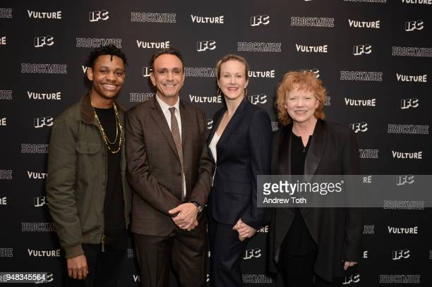 Actors Tyrel Jackson Williams Hank Azaria Katie Finneran and Becky Ann Baker attend the Vulture IFC celebrate the Season 2 premiere of 'Brockmire' at...