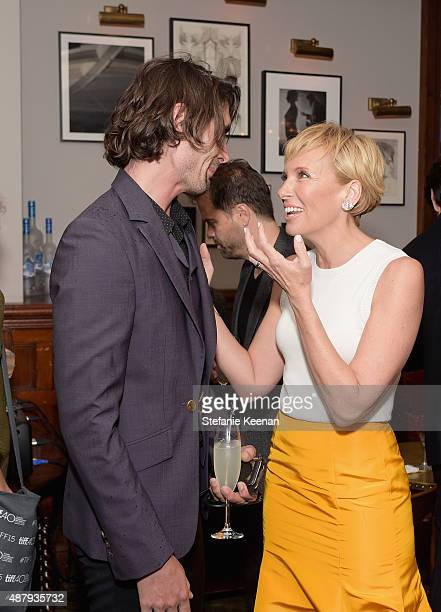 Actors Tyson Ritter and Toni Collette attend the Miss You Already TIFF party hosted by GREY GOOSE Vodka and Soho House Toronto at Soho House Toronto...